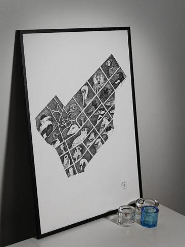 Punavuori 50x70cm